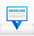 Pointer label graphics blue color vector image vector image