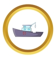 Ship for catching fish icon vector image