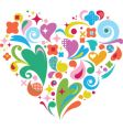 heart shaped vector image vector image