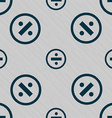 dividing icon sign Seamless pattern with geometric vector image