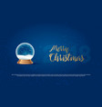 christmas snow globe on transparent background vector image