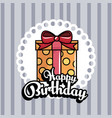 gift box present birthday card vector image