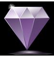 Purple diamond as jewelry vector image