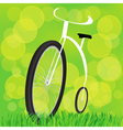 Retro styled bicycle vector image