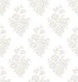 Seamless light floral wallpaper vector image