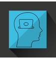 silhouette profile business laptop concept vector image