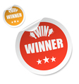 winner stick vector image