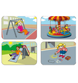Children in a playground vector image vector image
