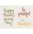 Thanksgiving day vintage gift tags and cards vector image