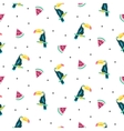 Summer exotic tropical seamless pattern vector image