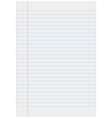 Notebook paper with lines vector image