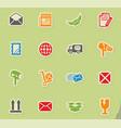 post service icon set vector image