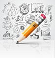 Creative pencil idea vector image vector image