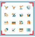 shopping icons in a frame series vector image vector image