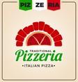 Pizzeria logo template design vector image vector image