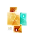 Glossy color squares vector image vector image