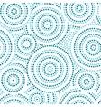 Blue and white australian aboriginal geometric art vector image