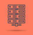 isolated icon of server database vector image
