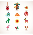 Mexico love - set of icons vector image
