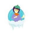 Winter Illness Season People Design vector image