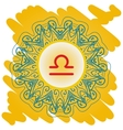zodiac sign What is karma circle with vector image