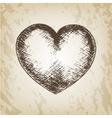 Hand drawn Valentine day - vector image
