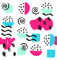universal memphis seamless pattern endless vector image