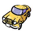 cartoon image of car icon automobile symbol vector image vector image