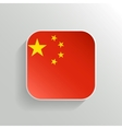Button - China Flag Icon vector image vector image