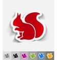 realistic design element squirrel vector image