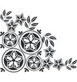 Ornament in black 05 vector image vector image