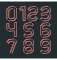 A set of numbers vector image