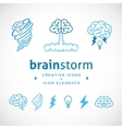 Brainstorm Abstract Creative Logo Template vector image