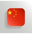 Button - China Flag Icon vector image