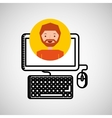 charatcer hand draw computer icon graphic vector image