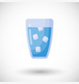 glass of water flat icon vector image