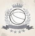 Grunge Basketball laurel weath vector image
