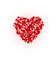 happy valentines day greeting card concept heart vector image