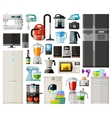 home appliances icons set set of elements - vector image