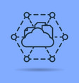 isolated icon of online cloud storage vector image