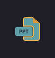 PPT computer symbol vector image