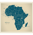 Modern Map - Africa continent with country labels vector image