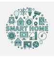 Smart home flat vector image