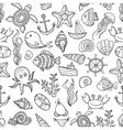 seamless pattern of marine life vector image