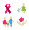 volunteer icons set vector image