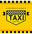 Taxi symbol with checkered background - 08 vector image