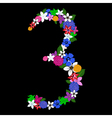 3 numeral vector image
