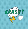Crash Comics pop art style blank layout template vector image