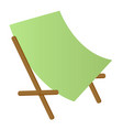 beach chaise longue cartoon vector image