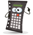 calculator character vector image